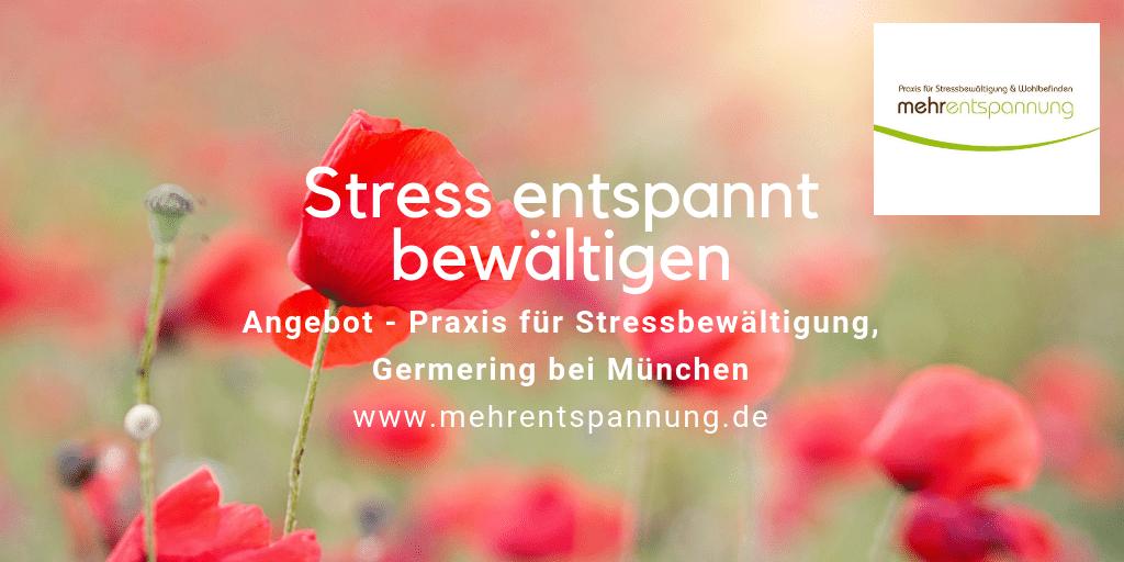 Angebot-Leistungen, Praxis für Stressbewältigung München-Germering