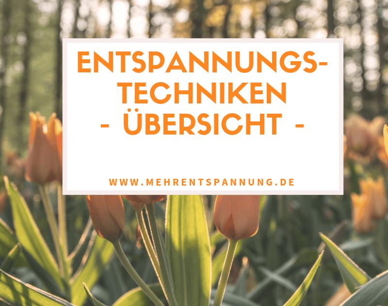 Entspannungstechniken - Übersicht, mehrentspannung.de