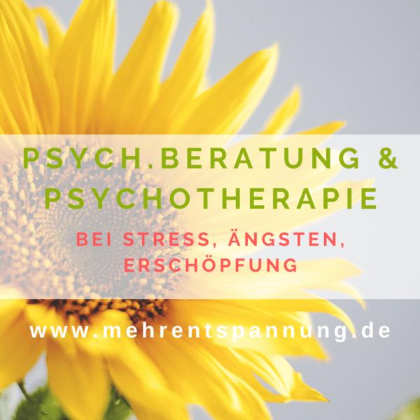 Psychologische Beratung und Psychotherapie bei Stress