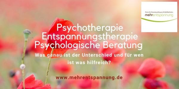 Psychotherapie, Entspannungstherapie & psychologische Beratung